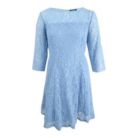 SL Fashions Women's Plus Size Sequined Lace Dress