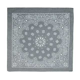 CTM® Cotton Stonewash Bandana - One size (Option: Black)