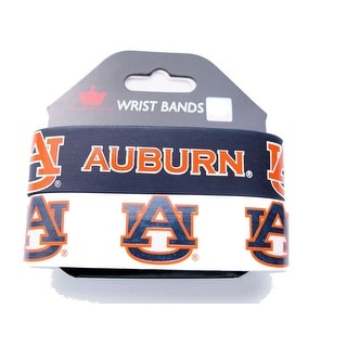 Auburn Tigers Rubber Wrist Band (Set of 2) NCAA
