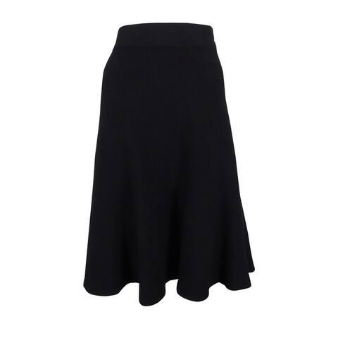 Alfani Women's Milano Fit & Flare Sweater Skirt (XS, Deep Black) - Deep Black - XS