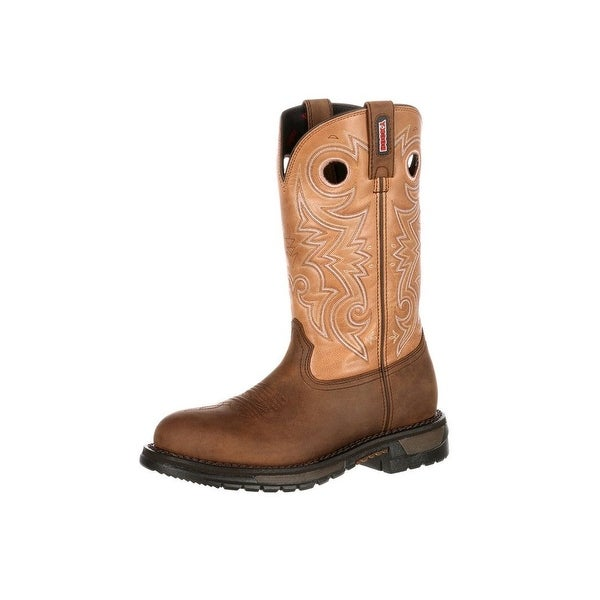 Rocky Western Boots Mens Original Ride Oil Resistant Brown