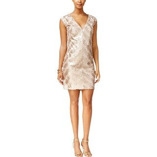Rachel Roy Womens Cocktail Dress Sequined Stripe