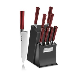 Cuisinart Vetrano 11-Piece Collection Cutlery Knife Block Set (Red/Black)