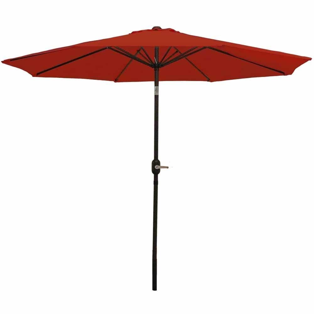 Sunnydaze Aluminum 9 Foot Patio Umbrella with Tilt & Crank - Thumbnail 1