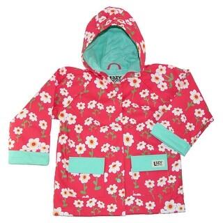 Lazy One Kids' Floral Print Rain Jacket