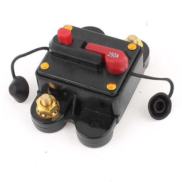 Unique Bargains Plastic Shell 250A Car Audio Stereo Inline Power Circuit Breaker