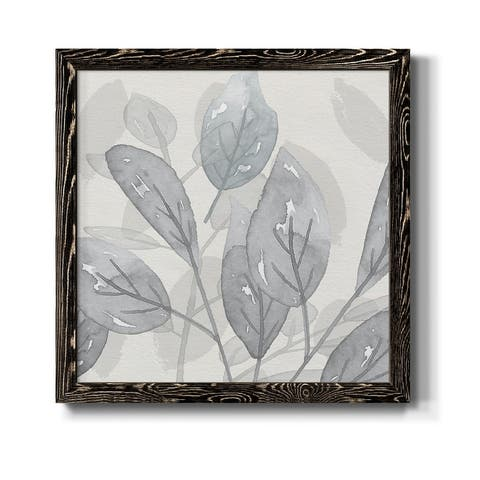Shadow Leaves II-Premium Framed Canvas - Ready to Hang