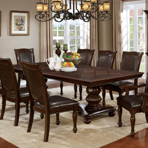 Copper Grove Madzharovo Brown Cherry 103-inch Dining Table with 24-inch Leaf