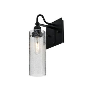 Besa Lighting 1WG-JUNI10CL Juni Single Light Wall Sconce with Clear Bubbled Glass Shade