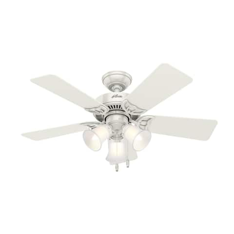 """Hunter 42"""" Southern Breeze Ceiling Fan with 3-Light LED Light Kit and Pull Chain"""