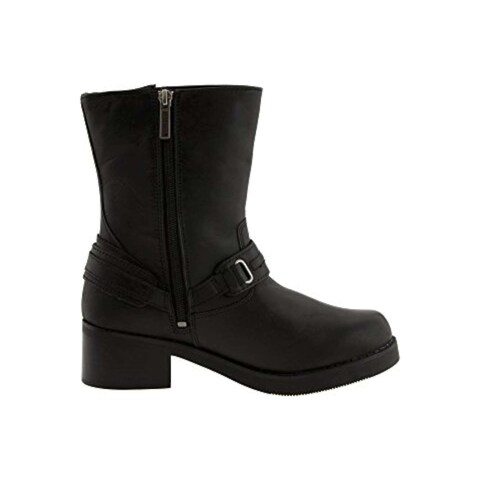 Harley-Davidson Womens Christa Fabric Round Toe Mid-Calf Motorcycle Boots - 8
