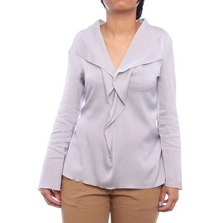 Armani Collezioni Long Sleeve Collared Neck Blouse Women Regular Blouse