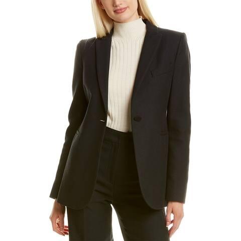 Les Copains Button Wool-Blend Blazer
