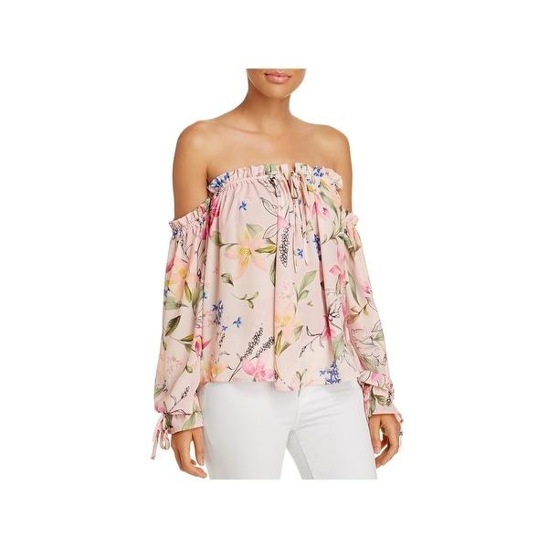 01676415e4 Shop Yumi Kim Womens Pullover Top Off-The-Shoulder Floral Print - m ...