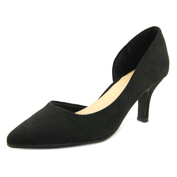 CL By Laundry Estelle Women Pointed Toe Suede Black Heels