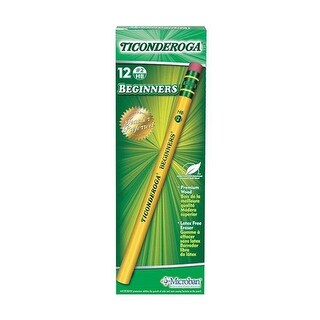 Dixon Ticonderoga DIX13308BN Beginner Pencil with Eraser - 3 Dozen