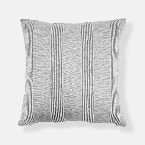 Stripe Textured Oversized Throw Pillow