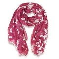 Spring and Summer Women's Elegant Butterfly Print Scarf Beach Wrap Scarves - Large - Thumbnail 0