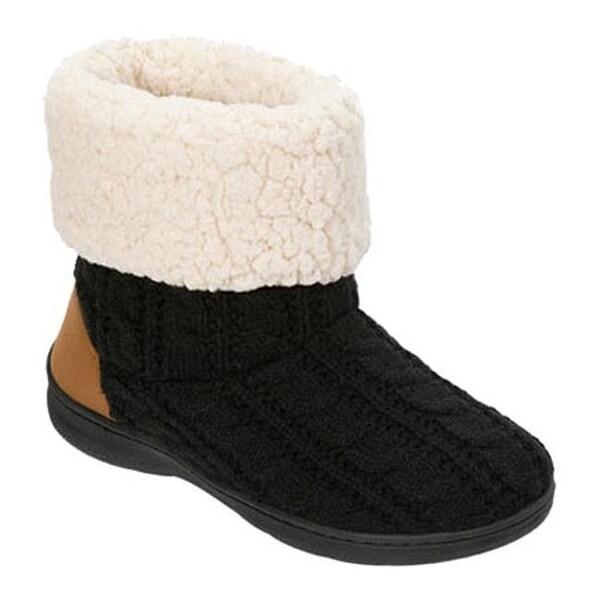 1245762ca18 Shop Dearfoams Women's Cable Knit Boot Slipper with Memory Foam ...