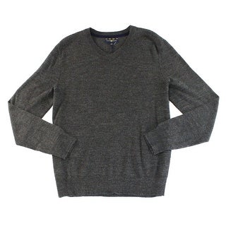 Club Room NEW Heather Gray Mens Size XL V-Neck Wool Knit Sweater
