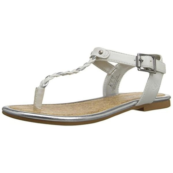 Sperry Girls Anchor Away T-Strap Sandals Braided