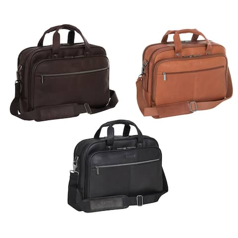 "Kenneth Cole Reaction I Rest My Case Full-Grain Colombian Leather 15.4"" Laptop & Tablet Portfolio Bag"