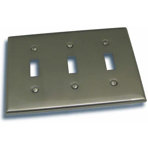 """Residential Essentials 10832 4.5"""" X 6.375"""" Triple Toggle Switch Plate Featuring a Rustic / Country Theme"""