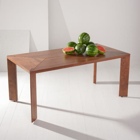 """SAFAVIEH Couture Halton Wood Rectangle Dining Table - 68.9"""" W x 35.4"""" L x 29.5"""" H"""