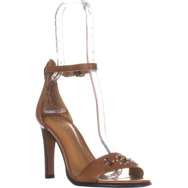 Coach Indi Ankle Strap Dress Sandals, Saddle