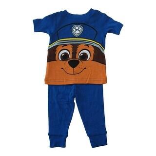 Nickelodeon Baby Boys Blue Paw Patrol Cotton Short Sleeve 2 Pc Pajama