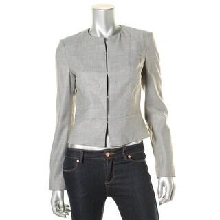 BOSS Hugo Boss Womens Jamyva Collarless Blazer Hook Front Long Sleeves - 6