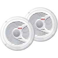 "PYLE PRO PLMR60W Hydra Series 6.5"" 150-Watt Dual-Cone Marine Speakers (White)"