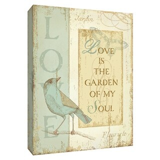 "PTM Images 9-154439  PTM Canvas Collection 10"" x 8"" - ""Secret Garden I"" Giclee Sayings & Quotes Art Print on Canvas"