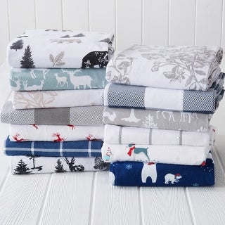 Link to Great Bay Home Extra Soft Cotton Flannel Printed Bed Sheet Set Similar Items in Bed Sheets & Pillowcases