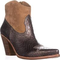 Donald J Pliner Pablo Western Ankle Boots, Platino - 9.5 us
