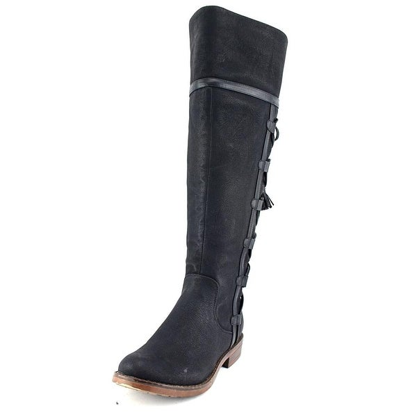 XOXO Selby Women Round Toe Synthetic Black Knee High Boot