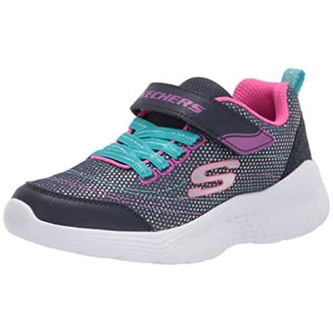 Skechers Kids Girls 302455L Sneaker, Navy/Multi, 1 Little Kid