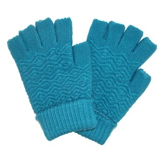 CTM® Women's Chenille Fingerless Winter Gloves - One size
