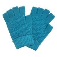 CTM® Women's Chenille Fingerless Winter Gloves