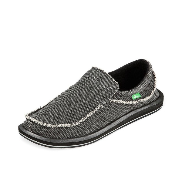 Sanuk Casual Shoes Mens Chiba Textile Slip On Rubber Sole