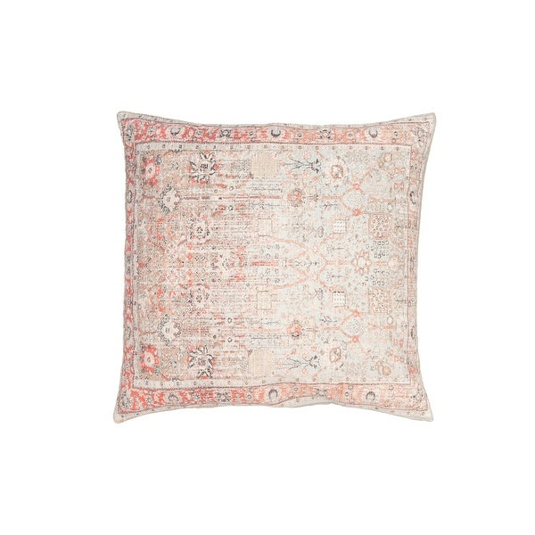 Heavily Distressed Multicolor Print Cotton Pillow. Opens flyout.