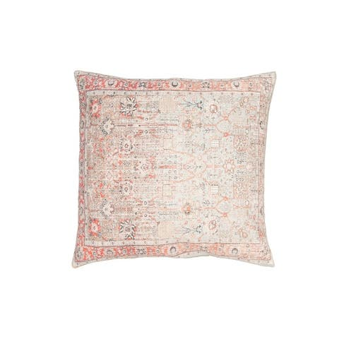 Heavily Distressed Multicolor Print Cotton Pillow