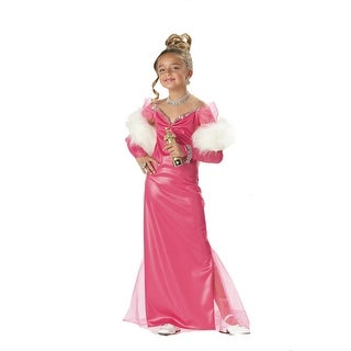Child Hollywood Starlet Gown Halloween Costume