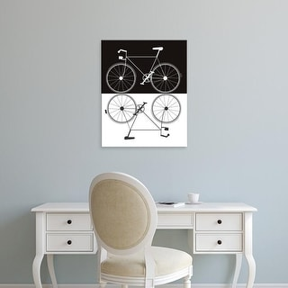 Easy Art Prints Jan Weiss's 'Two Bikes' Premium Canvas Art