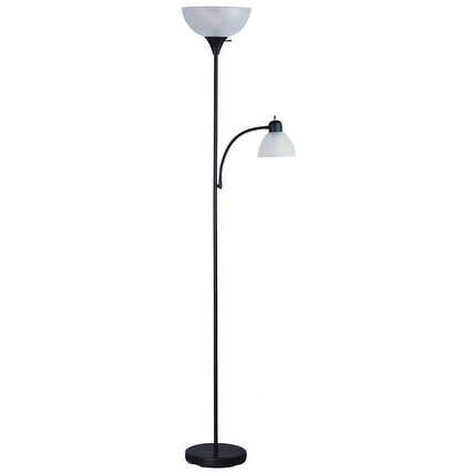Living Accents 18199-002 Torchiere With Reading Floor Lamp