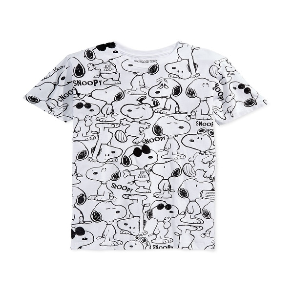 07be6fb71 Shop Jem NEW White Black Mens Size Large L Snoopy Crewneck Tee Joe Cool T- Shirt - Free Shipping On Orders Over $45 - Overstock - 20736623