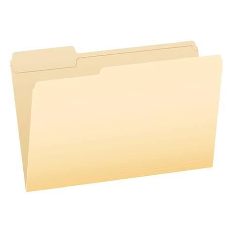 Pendaflex 1/3 Cut Reinforced File Folder, Legal, Medium Weight, Manila, Pack of 100