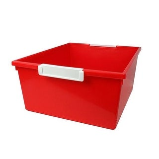 Romanoff Products 12 qt Red Tattle Tray with Label Holder - 3 Each