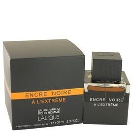 Encre Noire A L'extreme by Lalique Eau De Parfum Spray 3.3 oz - Men