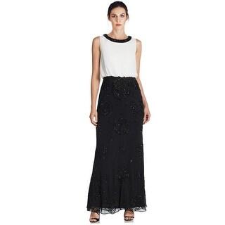 Aidan Mattox Embellished Beaded Blouson Evening Gown Dress - 2